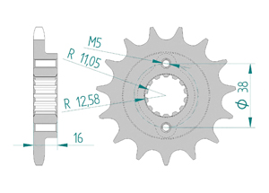 Kit chaine Acier DUCATI 916 ST4 1999-2002 Hyper Renforcé Xs-ring