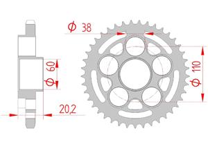 Kit chaine Acier DUCATI 1000 MONSTER S2 R 06-08