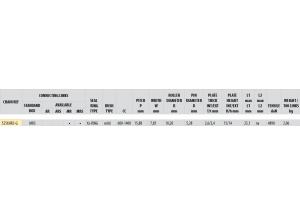Kit chaine Acier DUC 1100 MONSTER / S 09-10 FOR PCD2