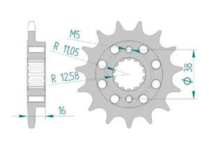 Kit chaine ALU DUC 748 STRADA-SP 95-98 FOR PCD1 Hyper Renforcé Xs-ring