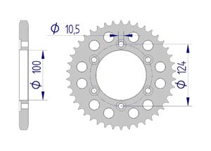 Kit chaine ALU DUCATI DS 1000 SS 2003-2005 Super Renforcé Xs-ring