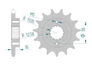 Pignon Pas 525 Ducati