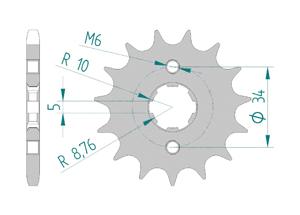 Kit chaine Acier GILERA 125 COGUAR Renforcé Xs-ring