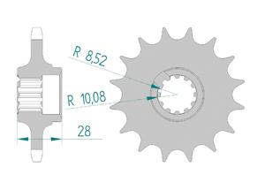 Kit chaine Acier GILERA 125 FAST BIKE Standard