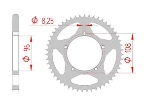Kit chaine Acier GILERA 125 FAST BIKE Renforcé Xs-ring