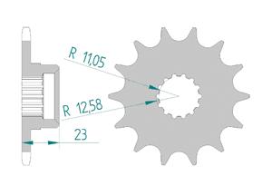 Kit chaine Acier GILERA 600 XR-T 1988-1989 Renforcé Xs-ring