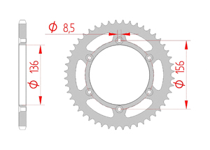 Kit chaine Acier HUSQVARNA SM 125 2000-2012 Renforcé Xs-ring