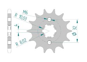 Kit chaine Acier HUSQVARNA SM 125 4T 2011-2012 Renforcé Xs-ring