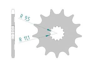 Kit chaine Acier HVA 250 TE 2010-2013 Standard Xs-ring