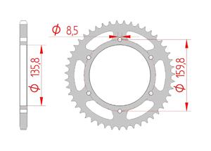 Kit chaine Acier HUSQVARNA 650 TR TERRA 2013-2014 Renforcé Xs-ring