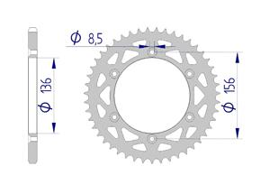 Kit chaine ALU HUSQVARNA CR 250 1992-1994 Standard Xs-ring