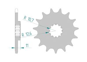Kit chaine ALU HVA 310 TE 2009-2010 Standard Xs-ring