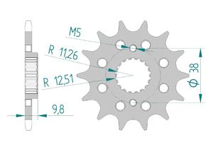 Kit chaine ALU HUSQVARNA 449 TE 2011-2012 Super Renforcé Xs-ring
