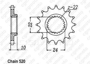 Kit chaine Aprilia Af1 125 Replica