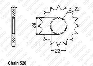Kit chaine Aprilia 125 F40