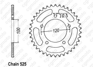Kit chaine Aprilia Sl 750 Shiver