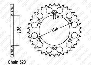 Kit chaine Beta 250/450/525 Rr Enduro