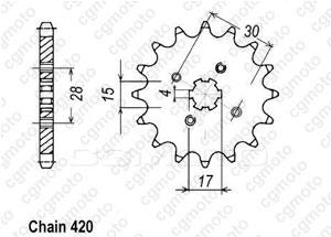 Kit chaine Honda Mtx 80 S Air